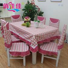 The Newest Red Fashion Plaid Table Cloth Dining Chair Cushion Seat Cover Pastoral