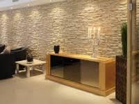 schalsteine verputzen wohnzimmerwand steinoptik