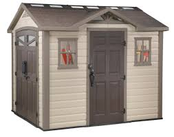 6x8 Plastic Storage Shed by Decorating Keter Shed Fusion 8 Ft W X 10 Ft D Composite Storage