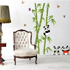 Panda Playing Around Bamboos Wall Art Mural Decal Cute Bamboo Home Decor Pvc Sticker Kids Bedroom Stickers Removable Decals From