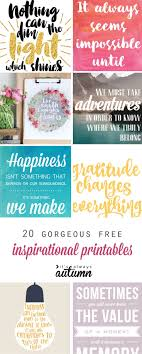 20 Gorgeous Modern FREE Inspirational Quote Printables
