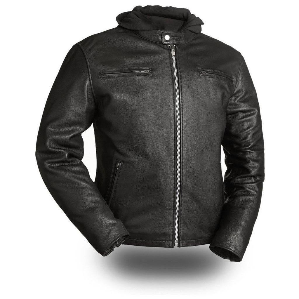 First Manufacturing Men's Street Cruiser Motorcycle Jacket - Black