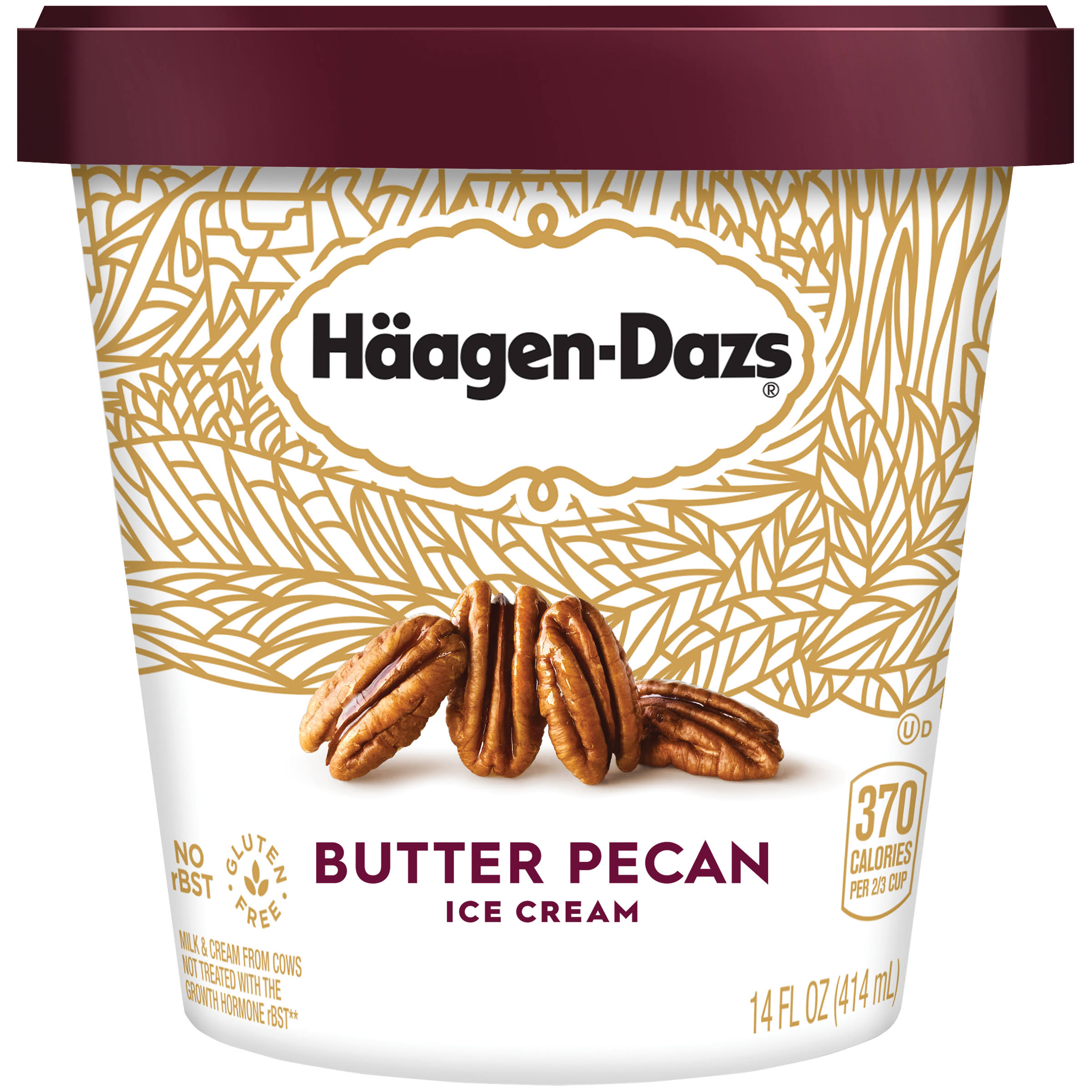 Häagen-Dazs Butter Pecan Ice Cream - 14oz