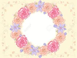 Shabby Chic Wallpaper Borders Charming Themed Frame Featuring Intertwined Flowers 630
