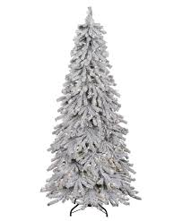 75 Prelit Flocked Alpine Spruce Artificial Christmas Tree Clear