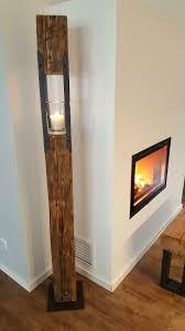 laterne holz balken holzbalken deko wohnzimmer leuchter