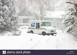 A US Postal Service Truck Is Stuck In