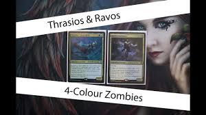 Mtg Thraximundar Edh Deck by 4 Colour Zombies Ft Thrasios U0026 Ravos Commander Edh Deck Tech