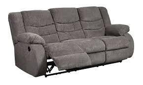 Milari Sofa Living Spaces by Tulen Gray Reclining Sofa By Ashley Furniture