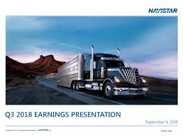 Navistar International Corporation 2018 Q3 - Results - Earnings Call ... Commercial Vehicle Car Navistar Intertional Tow Truck Automotive Corp Trucking News Online Mahindra Truck And Bus The Future Of Indian Supertruck Hits 13 Mpg Catalist Project Fleet Owner Navistar Boss Says Drivers Have Role In Autonomous Trucks Acquiring Us Rival Could Give Vw An Edge In Global Trucking Coinental To Become Standard Tire For And Team Up For Mediumduty Electric Launches 2019 General Motors Collaborate On Vehicle 2000 4700 Sa Dump Driving The Lt Motor Hino Car