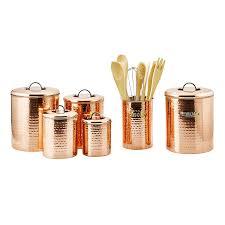 Rustic Kitchen Canister Sets by Amazon Com 4 Piece Décor Copper