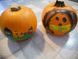 How To Make A Paper Pumpkin Halloween Decorations Youtube