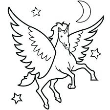 728x728 Pegasus Coloring Pages Baby Galaxy