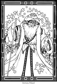 The Spirits Of Christmas Stained Glass Coloring Book Pages