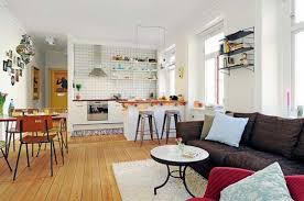 Kitchen Living Room Open Floor Plan Interior Design Architectu Small Concept