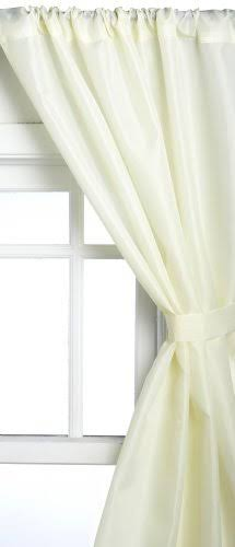Carnation Home Fashions Polyester Fabric Window Curtain in Ivory