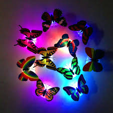 3d wall light colors changing led butterfly decorative 2 in