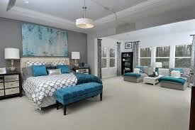 Teal And Grey Bedroom Idea Purple