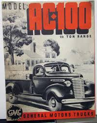 100 1939 Gmc Truck GMC Model AC 100 Half Ton Range S Orig Sales Brochure Folder