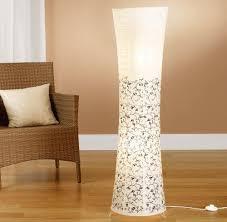 trango tg1240 modern design reispapier stehle kos reispapierle in weiß rund mit floralem motive stehleuchte 125cm hoch wohnzimmer deko le