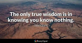 Quote The Only True Wisdom Is In Knowing You Know Nothing
