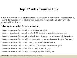 Best Mba Resumes