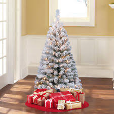 4ft Pink Pre Lit Christmas Tree by Flocked Christmas Tree Ebay