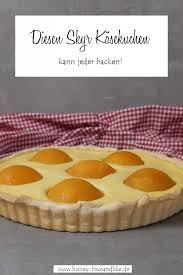skyr käsekuchen mit pfirsich spiegeleikuchen als tarte zu