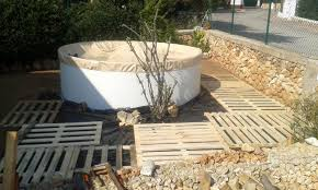Deck Flooring Custom Wooden Pallet Outdoor Pool Installation