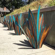 2 1 Pied Bleu Tequila Rustique Sculpture Art En Metal
