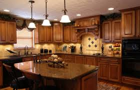 lighting ideas kitchen recessed lighting design with wooden
