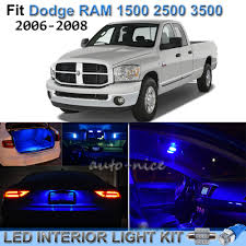 For 2006-2008 Dodge RAM 1500 2500 3500 Brilliant Blue LED Interior ...