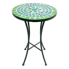 Mosaic Accent Table Outdoor Coffee Side Outdoors Blue Tab