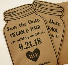 Mason Jar Magnet Save The Date Rustic Themed Click Through To Find