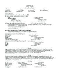Graphic Designer Resume Format Samples Word Free Theatrical Sample Document