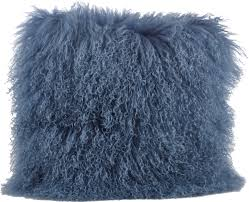 Asya Mongolian Fur Throw Pillow & Reviews