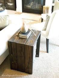 Diy Rustic Night Table Build A Round Side Building Plans And Instructions By On Ana