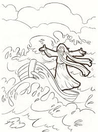Jesus Calms The Storm Coloring Page Within