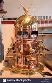 Beautiful Copper Espresso Machine In A Cafe