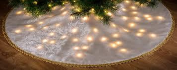 LED Lighted Christmas Holiday Tree Skirt Custom Made