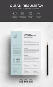 100 Resume Two Pages Professional Word Templates With Simple Designs For Best