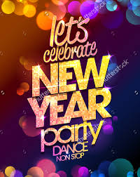 Multicolored New Year Party Poster Design