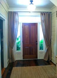 Front Door Side Window Curtain Panels by Front Door Sidelight Curtains U2013 Whitneytaylorbooks Com