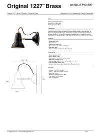 original 1227 brass wall light anglepoise horne