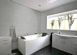 8 grey tile effect dumalock wall panels bathroom kitchen shower