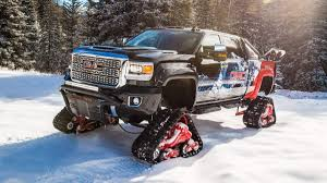 GMC Has Fitted Tracks To This Custom 2018 Sierra 2500HD All Terrain ...