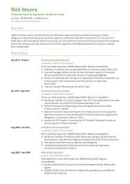 Resume Examples For Military Police Officer Example