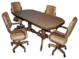 Dinette Chairs Rollers Padded Kitchen Desk Dining Table ...