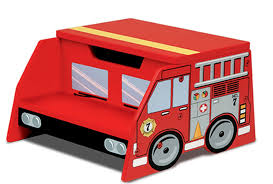100 Step 2 Fire Truck Fighter Manufactured Wood Stool FF