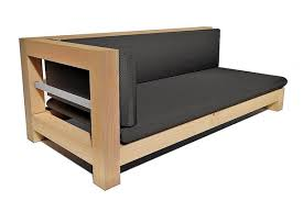 canap bois canapé woder n home canapé de jardin en bois et aluminium